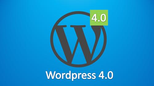 Ya tenemos a WordPress 4.0!